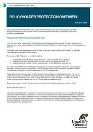 POLICYHOLDER PROTECTION OVERVIEW. - Legal & General