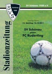 FC Ruderting - SV Schönau