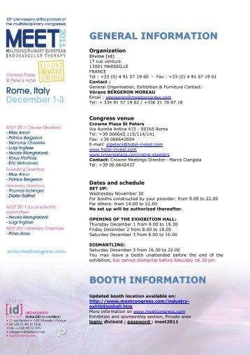 EXHIBITION MANUAL MEET2011b - MEET CONGRESS
