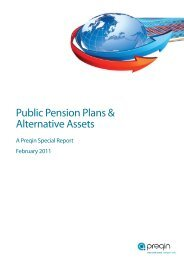 Public Pension Plans & Alternative Assets - Preqin