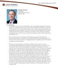 Ronald J. Friedman Areas of Practice - Lane Powell PC