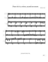 score - Mike Cirillo fiddler fiddle jazz violin violinist composer