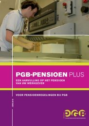 brochure PGB Pensioen Plus