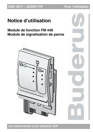 Notice d'utilisation - Buderus
