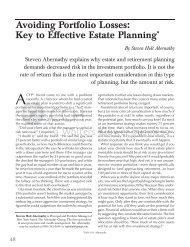 Avoiding Portfolio Losses: Key to Effective Estate Planning* - CCH