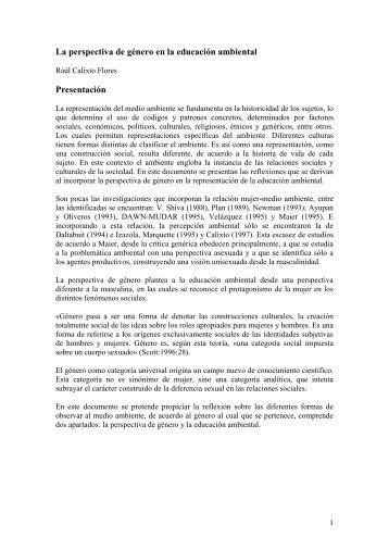 La perspectiva de género en la educación ambiental - Cubaenergia