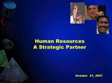 Human Resources A Strategic Partner