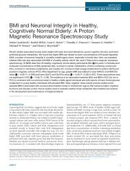 BMI and Neuronal Integrity in Healthy, Cognitively Normal Elderly: A ...