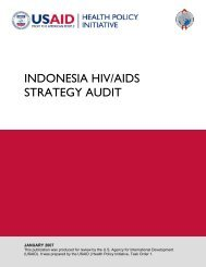 INDONESIA HIV/AIDS STRATEGY AUDIT - Health Policy Initiative