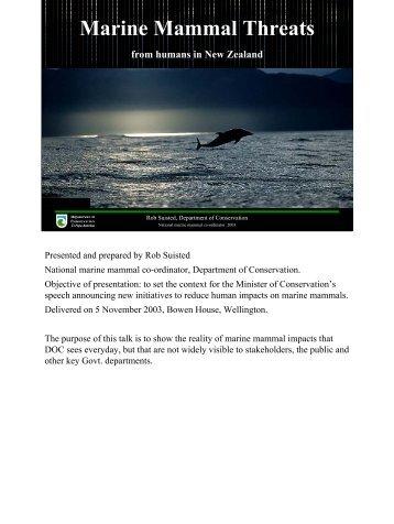 Marine Mammal Threats from humans in New ... - MarineNZ.org.nz