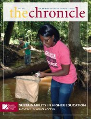 sustainability in higher education - The Chronicle - Georgia ...