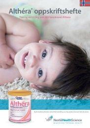 Althera Oppskriftshefte - nestle nutrition