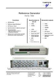 Reference Generator - TimeTech GmbH