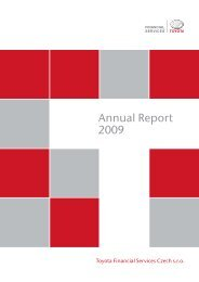 Annual Report 2009 - Toyota Financial Services