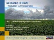 Soybeans in Brazil - University of Minnesota