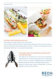 The lobster Rech n'Roll of summer 2013 The big ... - Alain Ducasse
