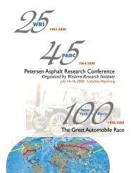 Petersen Asphalt Research Conference 2008 Program