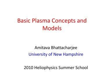 Basic Plasma Concepts and Models