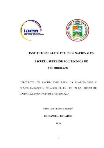 MONOGRAFIA PEDRO LARREA.pdf - Repositorio Digital IAEN ...