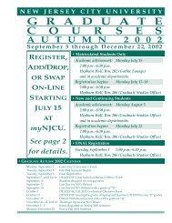 campuscourses - New Jersey City University