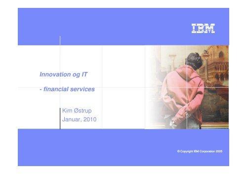 Innovation og IT - financial services - CFIR