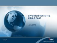 opportunities in the middle east - Québec International