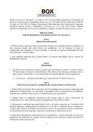 Rregullore per Publikimin e Informacionit nga Bankat