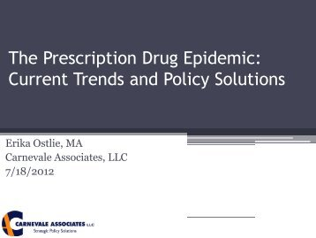 The Prescription Drug Epidemic - Women, Children and Families