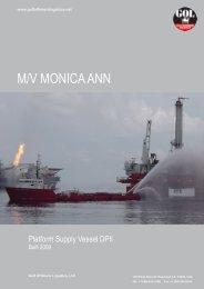M/V Monica Ann 242' DP2 PSV - Gulf Offshore Logistics