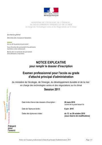 NOTICE EXPLICATIVE - Ministère Equipement