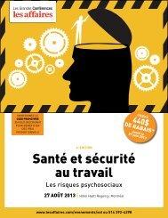 Santé et sécurité au travail - LesAffaires.com
