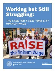 Working but Still Struggling: The Case for a New York City Minimum ...