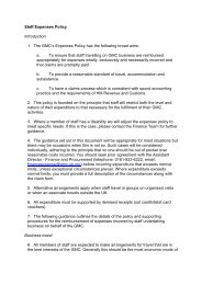 Staff Expenses Policy - revised June 2011
