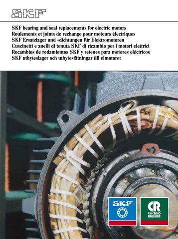 SKF bearing and seal replacements for electric motors Roulements ...