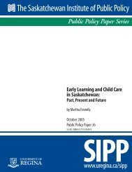Early Learning and Child Care in Saskatchewan - University of Regina