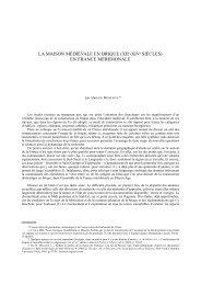 LA MAISON MÉDIÉVALE EN BRIQUE - Académies et Sociétés ...