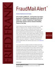 CIVIL FALSE CLAIMS ACT: The Supreme Court Hears ... - Fried Frank