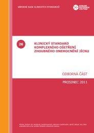 klinický standard (PDF) - Národní referenční centrum