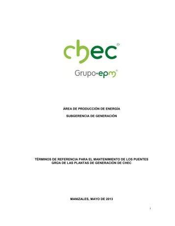 CENTRAL HIDROELÉCTRICA DE CALDAS S - Chec