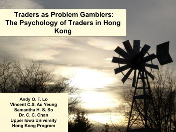 Are day traders in Hong Kong problem gamblers?