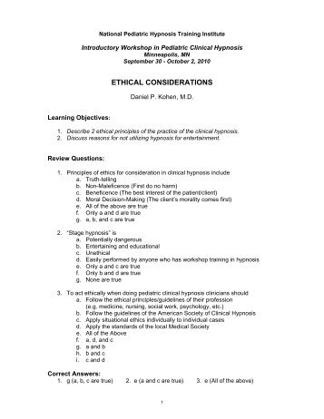 ethical considerations - University of Minnesota Continuing Medical ...