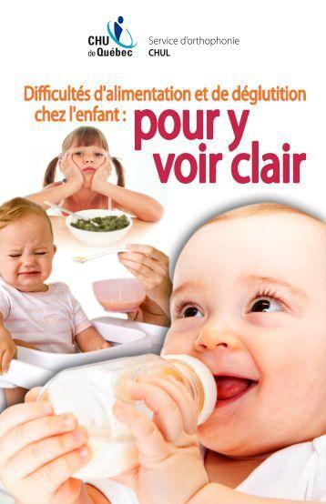 Difficultés d'alimentation et de déglutition chez l'enfant - CHUQ