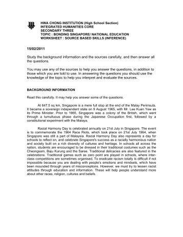Bonding Singapore.pdf - Hwa Chong Institution
