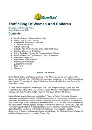 Trafficking Of Women And Children