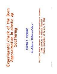 E x perim ental C heck of the B orn A pprox im ation in elastic S ...