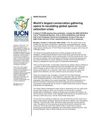 17 november 2004 World's largest conservation gathering opens to ...