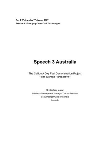 The Callide A Oxy Fuel Demonstration Project - Expert Group on ...