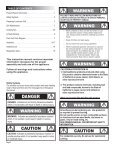 Use and Care Manual - Home Depot - Page 2