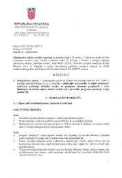 RJEÅENJE Ministarstva od 27.02.2012. godine - Procjena utjecaja ...