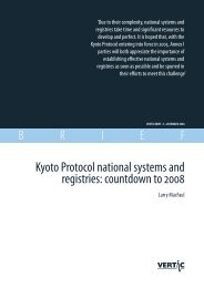 Kyoto Protocol national systems and registries: countdown to - VERTIC